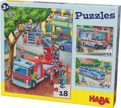 Haba Hogwash Police Fireman Puzzle