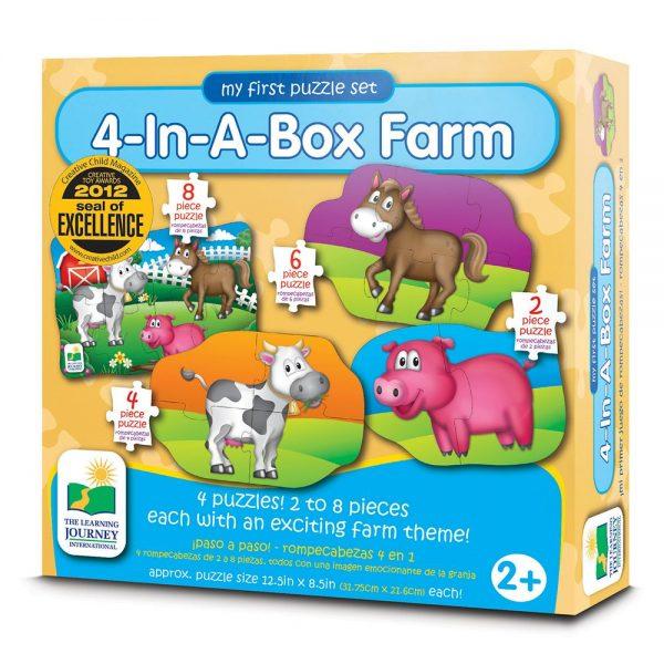 Dört Puzzle Bir Arada / Çiftlik
