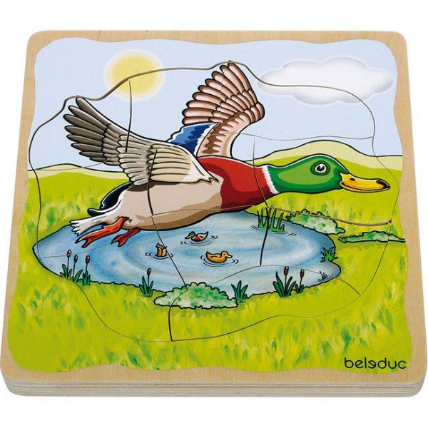 Oluşum Ahşap Puzzle - Ördek (28 Parça)
