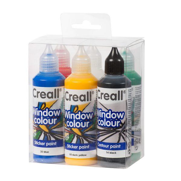 Creall Window Colour 6x80ml.