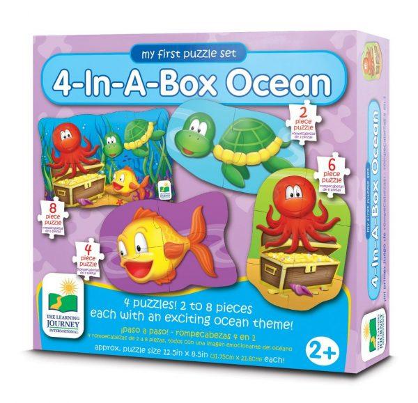 Dört Puzzle Bir Arada / Okyanus