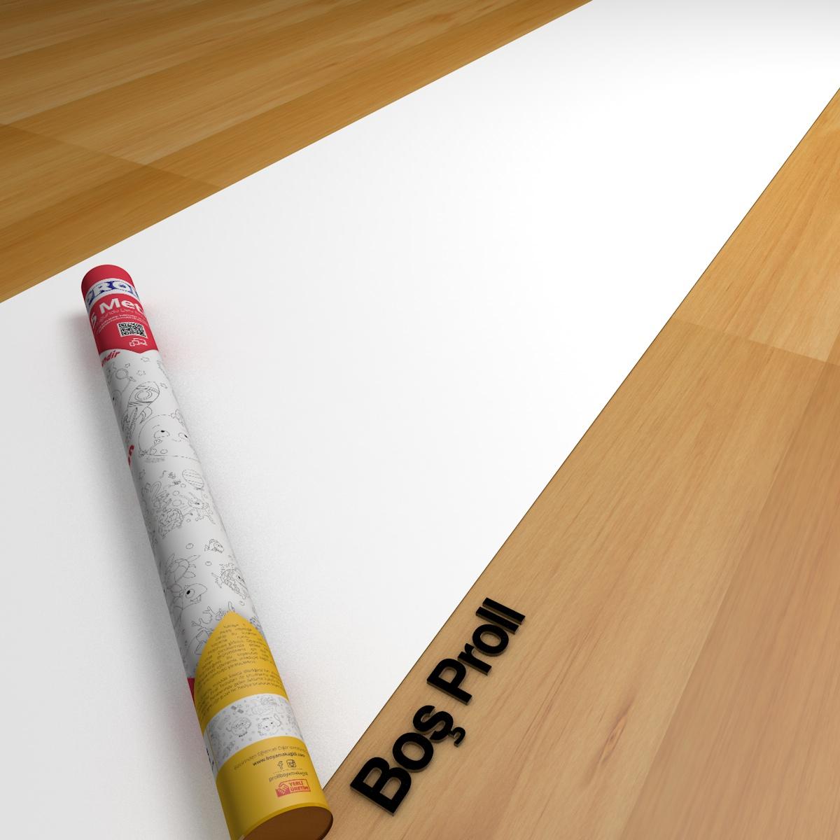 Proll Dev Boyama Kağıdı - 5 Metre Boş Boyama Kağıdı