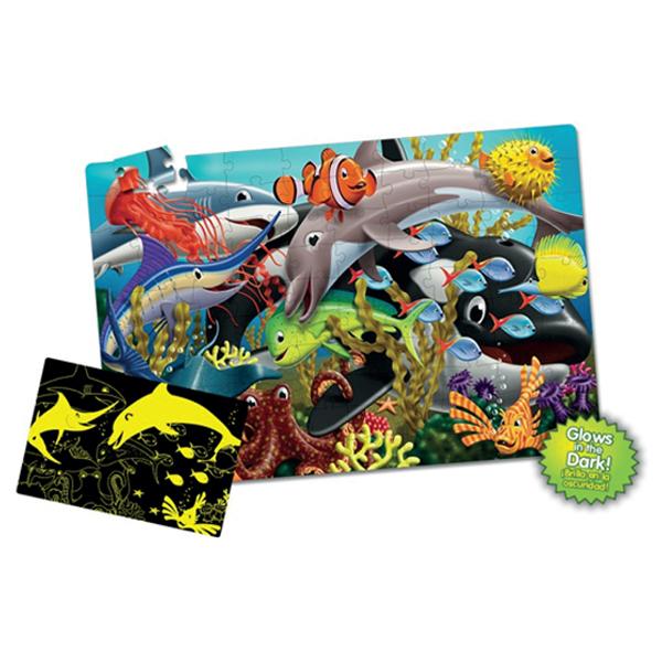 Fosforlu Yer Puzzle 100 Parça / Okyanus