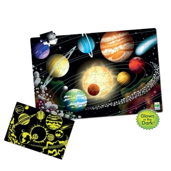 Fosforlu Yer Puzzle 100 Parça / Uzay
