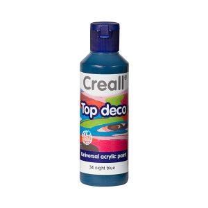 Creall Top Deco - Gece Mavisi
