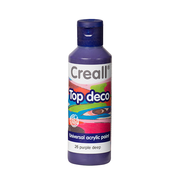 Creall Top Deco - Koyu Mor