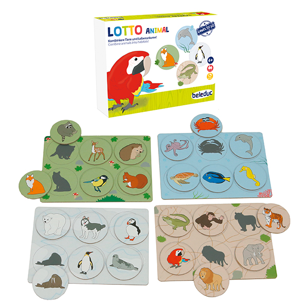 Beleduc Active Kids / Lotto Animal - Vahşi Doğa Tombala