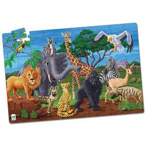 Fosforlu Yer Puzzle 100 Parça / Vahşi Yaşam