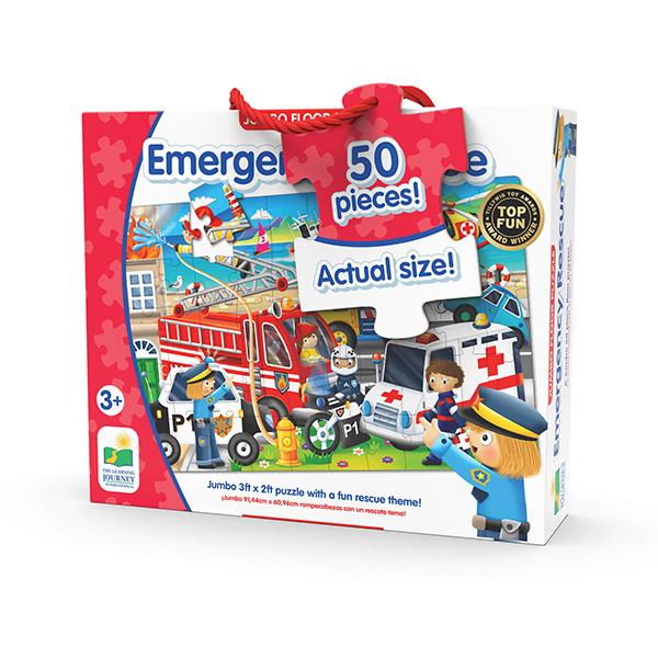 Jumbo Yer Puzzle 50 Parça / Acil Durum Taşıtları