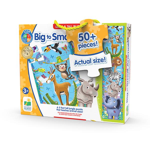 Uzun Puzzle 51 Parça 150 Cm / Büyükten Küçüğe Hayvanlar