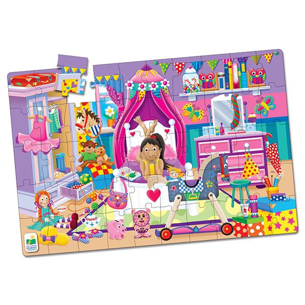 Jumbo Yer Puzzle 50 Parça / Kızımın Odası