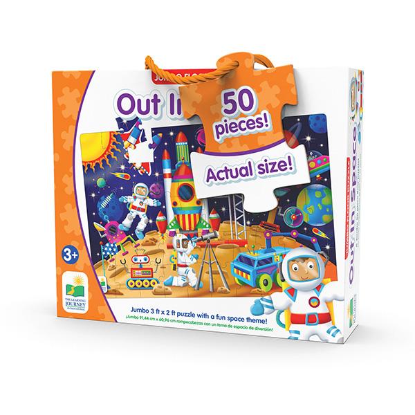 Jumbo Yer Puzzle 50 Parça / Astronotlar Uzayda
