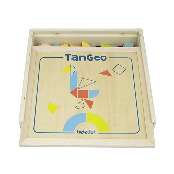 Magnetik Tangram Oyunu (70 Ahşap Parça Ve 22 Etkinlik Kartları)