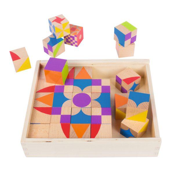 Moziblocks Mozaik Ahşap Bloklar (30 Parça)